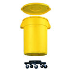RCP2640BLA Rubbermaid  Dolly Can