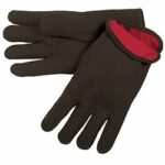 7900 Brown Jersey Red Fleece Glove