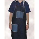 A2836D4BT Denim Apron with Hip and Chest Pockets